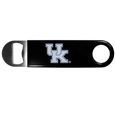 Kentucky Wildcats Long Neck Bottle Opener - This heavy-duty steel opener is extra long, with a durable vinyl covering. The extra length provides more leverage for speed opening and the opener features a large printed Kentucky Wildcats logo.