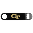 Georgia Tech Yellow Jackets Long Neck Bottle Opener - This Georgia Tech Yellow Jackets Long Neck Bottle Opener heavy-duty steel opener is extra long, with a durable vinyl covering. The extra length provides more leverage for speed opening and the opener features a large printed Georgia Tech Yellow Jackets logo.