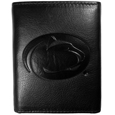 Penn St. Nittany Lions Embossed Leather Tri-fold Wallet