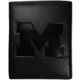 Michigan Wolverines Embossed Leather Tri-fold Wallet