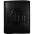 Ohio St. Buckeyes Embossed Leather Tri-fold Wallet