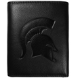 Michigan St. Spartans Embossed Leather Tri-fold Wallet