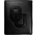Oklahoma Sooners Embossed Leather Tri-fold Wallet