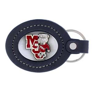 Large College Large Key Chain - Mississippi State Bulldogs - Our  college key ring combines fine leather surrounding a sculpted & enameled college team emblem. The intricate design and craftsmanship makes this key ring a unique gift. Made in America.  Thank you for shopping with CrazedOutSports.com