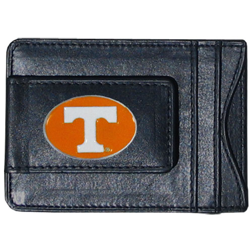 Money Clip/Cardholder - Tennessee - Our genuine leather collegiate money clip/cardholder is the perfect way to organize both your cash and cards while showing off your school spirit! Thank you for shopping with CrazedOutSports.com