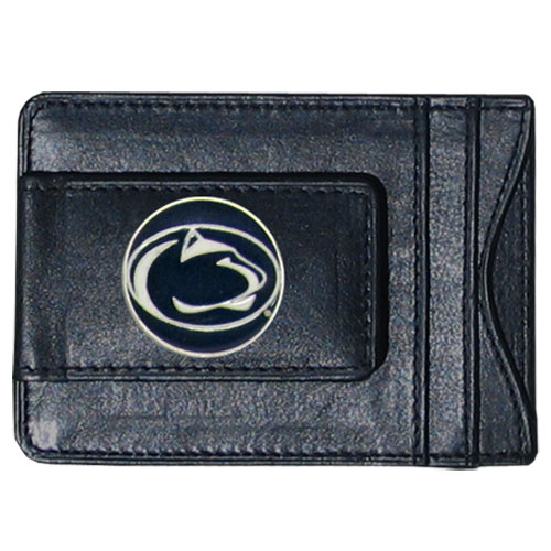 PENN St. Leather Cash & Cardholder - Our genuine leather cash & cardholder features a magnetic money clip and credit card slots on one side and a photo ID slot on the other. This versatile holder features a cast & enameled PENN St. emblem on the money clip. Thank you for shopping with CrazedOutSports.com