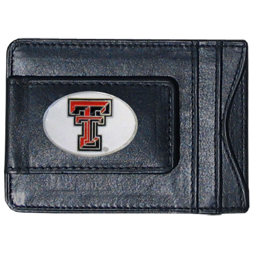 Money Clip/Cardholder - Texas Tech Raiders - Our genuine leather collegiate money clip/cardholder is the perfect way to organize both your cash and cards while showing off your school spirit! Thank you for shopping with CrazedOutSports.com