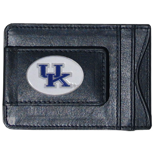 Money Clip/Cardholder - Kentucky Wildcats - Our genuine leather collegiate money clip/cardholder is the perfect way to organize both your cash and cards while showing off your school spirit! Thank you for shopping with CrazedOutSports.com