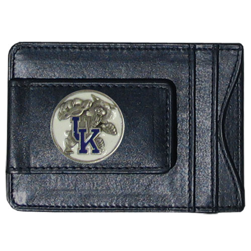 Wisconsin Leather Cash & Cardholder - Our genuine leather cash & cardholder features a magnetic money clip and credit card slots on one side and a photo ID slot on the other. This versatile holder features a cast & enameled Wisconsin emblem on the money clip. Thank you for shopping with CrazedOutSports.com