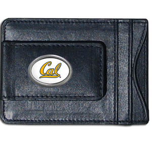 Money Clip/Cardholder - Cal Berkeley Bears - Our genuine leather collegiate money clip/cardholder is the perfect way to organize both your cash and cards while showing off your Cal Berkeley Bears spirit! Thank you for shopping with CrazedOutSports.com