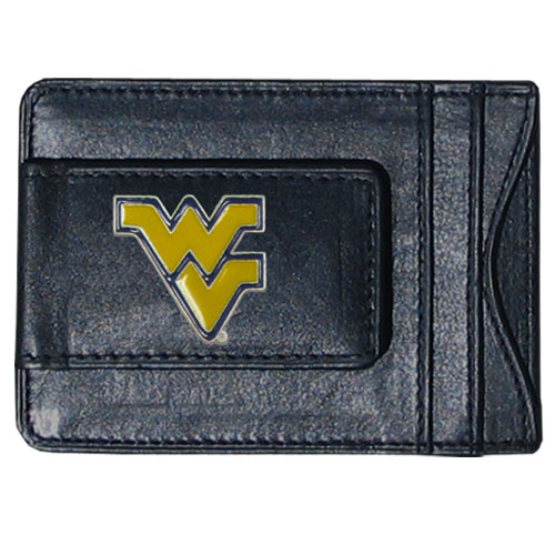 W. Virginia Leather Cash & Cardholder - Our genuine leather cash & cardholder features a magnetic money clip and credit card slots on one side and a photo ID slot on the other. This versatile holder features a cast & enameled W. Virginia emblem on the money clip. Thank you for shopping with CrazedOutSports.com
