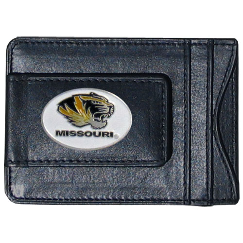 Money Clip/Cardholder - Missouri Tigers - Our genuine leather collegiate money clip/cardholder is the perfect way to organize both your cash and cards while showing off your school spirit! Thank you for shopping with CrazedOutSports.com