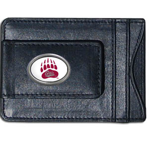 Money Clip/Cardholder - Montana Grizzlies - Our genuine leather collegiate money clip/cardholder is the perfect way to organize both your cash and cards while showing off your school spirit! Thank you for shopping with CrazedOutSports.com