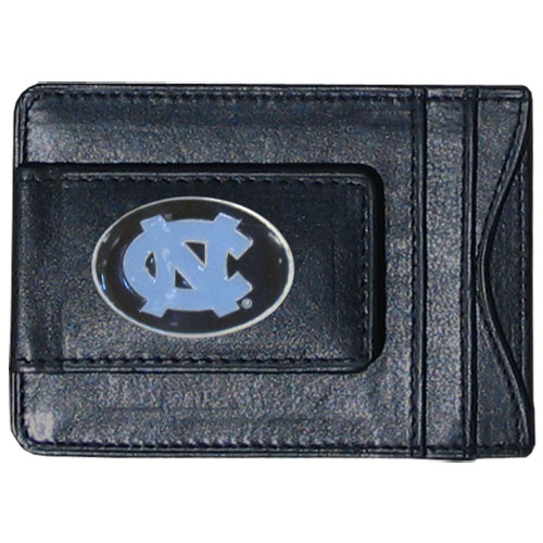 Money Clip/Cardholder - N. Carolina Tar Heels - Our genuine leather collegiate money clip/cardholder is the perfect way to organize both your cash and cards while showing off your school spirit! Thank you for shopping with CrazedOutSports.com