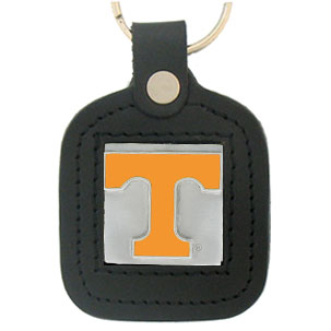 College Leather Key Rings - Tennessee Volunteers - This square college key ring features fine leather surrounding a sculpted and enameled logo. Check out our entire line of  collegiate merchandise! Thank you for shopping with CrazedOutSports.com