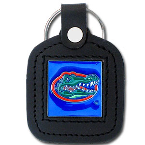 College Leather Key Ring - Florida Gators - This square college key ring features fine leather surrounding a sculpted and enameled Florida Gators logo. Check out our entire line of  collegiate merchandise! Thank you for shopping with CrazedOutSports.com