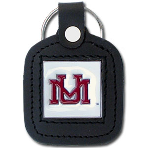 College Leather Key Ring - Montana Grizzlies Square - This square college key ring features fine leather surrounding a sculpted and enameled logo. Check out our entire line of  collegiate merchandise! Thank you for shopping with CrazedOutSports.com