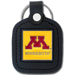Minnesota Golden Gophers College Leather Key Ring - This square college Minnesota Golden Gophers College Leather Key Ring features fine leather surrounding a sculpted and enameled logo. This genuine Minnesota Golden Gophers College Leather Key Ring is a great gift! Check out our entire line of  collegiate merchandise! Thank you for shopping with CrazedOutSports.com
