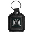 Hawaii Warriors Square Leatherette Key Chain
