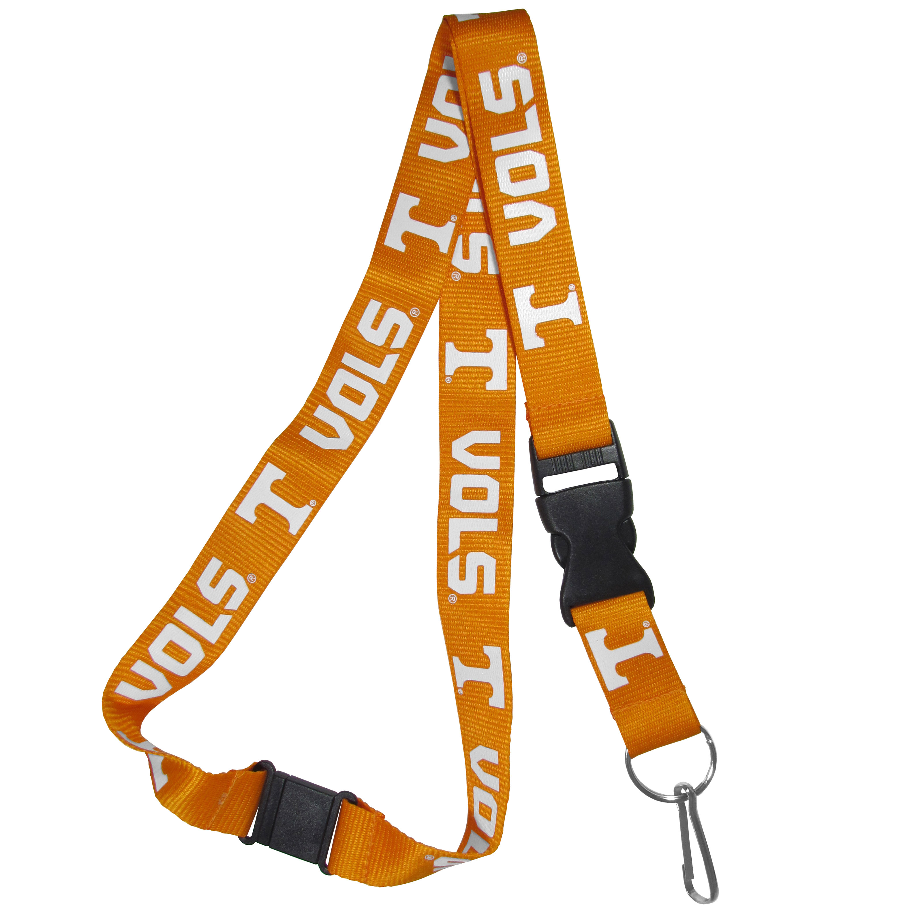 Tennessee Volunteers Lanyard - Our Tennessee Volunteers lanyards are a great way to show off your school pride and keep track of your keys, ID's, badges and much more. The lanyards are made of a comfortable nylon with screen printed school logos. They feature safety closures that disconnect if the lanyard becomes caught on something.