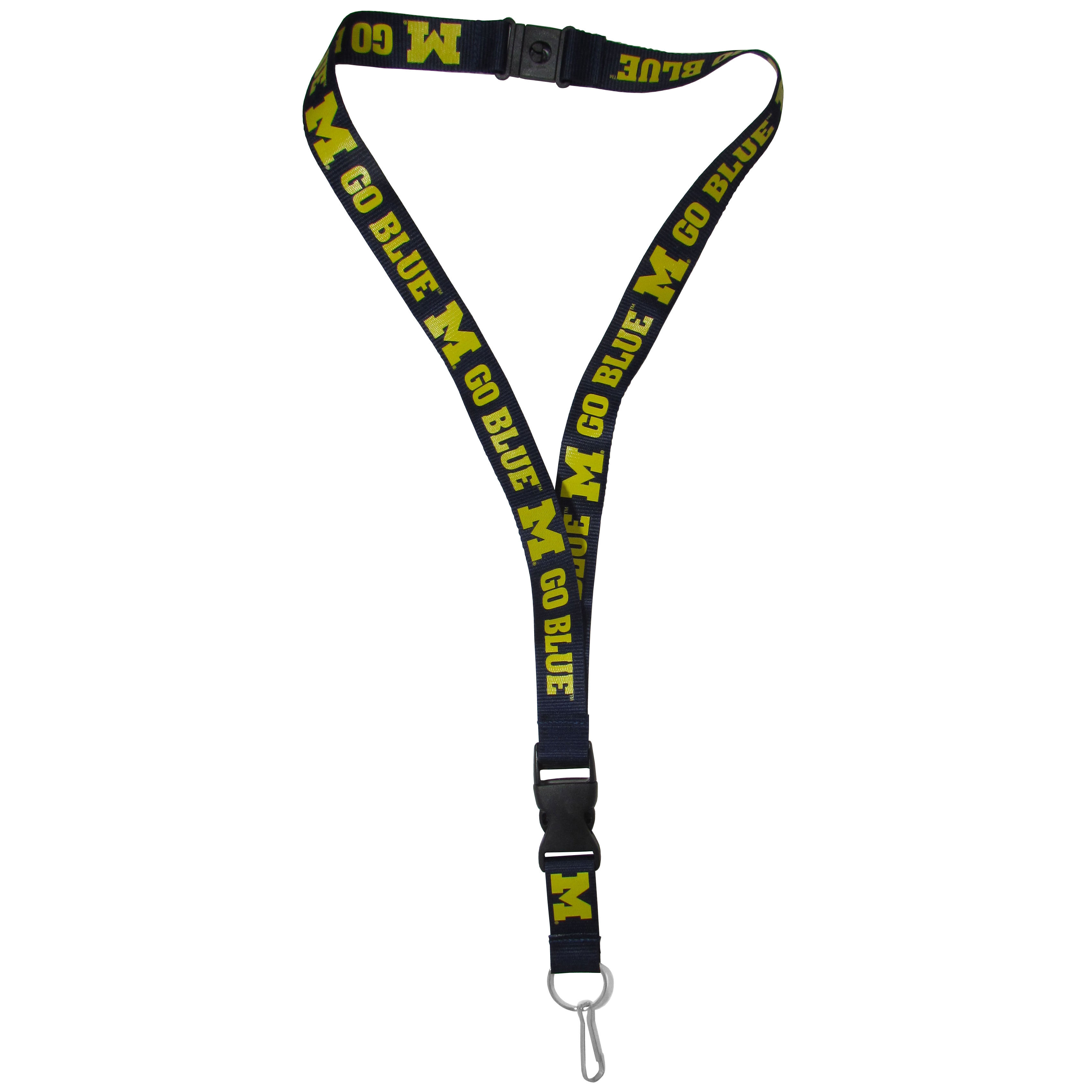 Michigan Wolverines Lanyard - Our Michigan Wolverines lanyards are a great way to show off your school pride and keep track of your keys, ID's, badges and much more. The lanyards are made of a comfortable nylon with screen printed school logos. They feature safety closures that disconnect if the lanyard becomes caught on something.