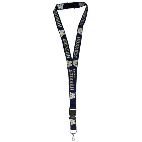 Washington  Lanyard - Our collegiate lanyards are a great way to show off your school pride and keep track of your keys, ID's, badges and much more. The lanyards are made of a comfortable nylon with screen printed school logos. They feature safety closures that disconnect if the lanyard becomes caught on something.  Thank you for shopping with CrazedOutSports.com