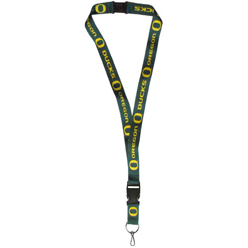 Oregon Lanyard - Our collegiate lanyards are a great way to show off your school pride and keep track of your keys, ID's, badges and much more. The lanyards are made of a comfortable nylon with screen printed school logos. They feature safety closures that disconnect if the lanyard becomes caught on something.  Thank you for shopping with CrazedOutSports.com