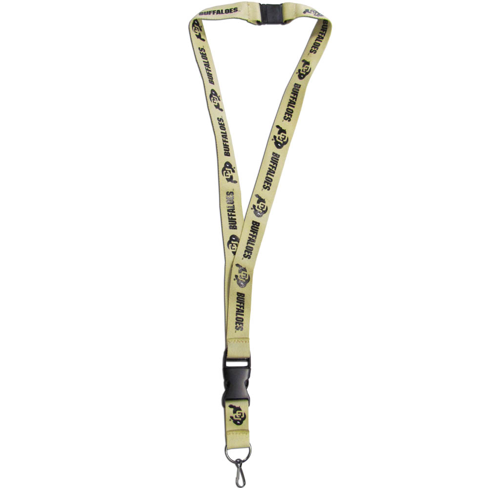 Colorado Buffaloes Lanyard - Our Colorado Buffaloes lanyards are a great way to show off your school pride and keep track of your keys, ID's, badges and much more. The lanyards are made of a comfortable nylon with screen printed school logos. They feature safety closures that disconnect if the lanyard becomes caught on something.