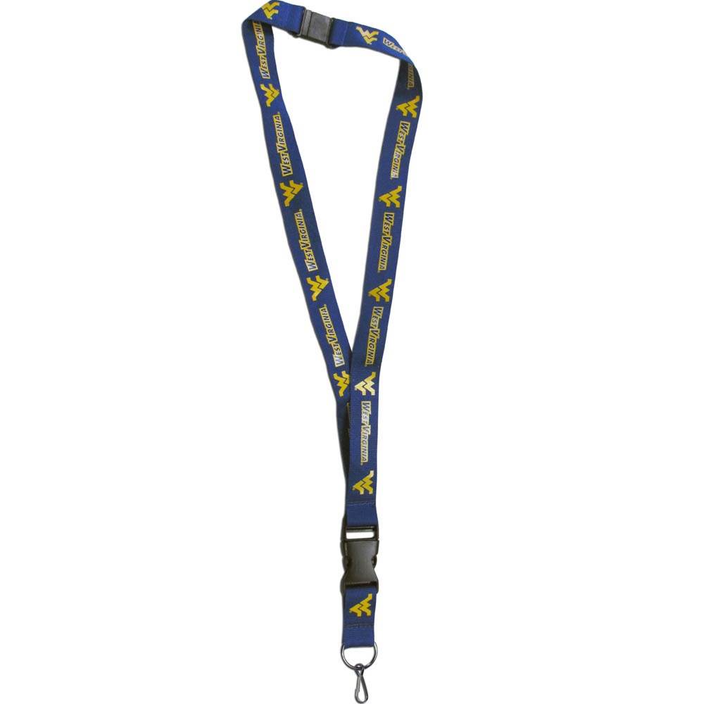 W. Virginia Mountaineers Lanyard - Our W. Virginia Mountaineers lanyards are a great way to show off your school pride and keep track of your keys, ID's, badges and much more. The lanyards are made of a comfortable nylon with screen printed school logos. They feature safety closures that disconnect if the lanyard becomes caught on something.