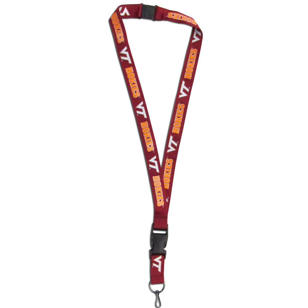 Virginia Tech Hokies Lanyard - Our Virginia Tech Hokies lanyards are a great way to show off your school pride and keep track of your keys, ID's, badges and much more. The lanyards are made of a comfortable nylon with screen printed school logos. They feature safety closures that disconnect if the lanyard becomes caught on something.