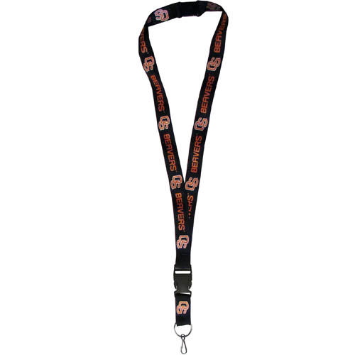 Oregon St. Lanyard - Our collegiate lanyards are a great way to show off your school pride and keep track of your keys, ID's, badges and much more. The lanyards are made of a comfortable nylon with screen printed school logos. They feature safety closures that disconnect if the lanyard becomes caught on something.  Thank you for shopping with CrazedOutSports.com