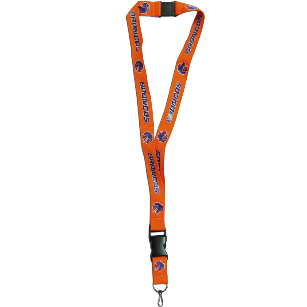Boise St. Broncos Lanyard - Our Boise St. Broncos lanyards are a great way to show off your school pride and keep track of your keys, ID's, badges and much more. The lanyards are made of a comfortable nylon with screen printed school logos. They feature safety closures that disconnect if the lanyard becomes caught on something.