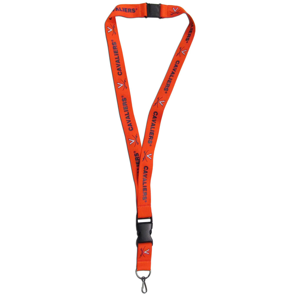 Virginia Cavaliers Lanyard - Our Virginia Cavaliers lanyards are a great way to show off your school pride and keep track of your keys, ID's, badges and much more. The lanyards are made of a comfortable nylon with screen printed school logos. They feature safety closures that disconnect if the lanyard becomes caught on something.