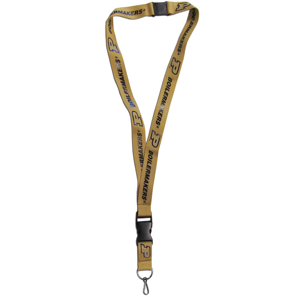 Purdue Boilermakers Lanyard - Our Purdue Boilermakers lanyards are a great way to show off your school pride and keep track of your keys, ID's, badges and much more. The lanyards are made of a comfortable nylon with screen printed school logos. They feature safety closures that disconnect if the lanyard becomes caught on something.