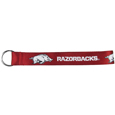Arkansas Razorbacks Lanyard Key Chain - This Arkansas Razorbacks wrist strap lanyard key chain is made of durable and comfortable woven material and is a not only a great key chain but an easy way to keep track of your keys. The bright Arkansas Razorbacks graffics makes this key chain easy to find in gym bags, purses and in the dreaded couch cushions.