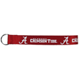 Alabama Crimson Tide  Lanyard Key Chain - Our Alabama Crimson Tide wrist strap lanyard key chain is made of durable and comfortable woven material and is a not only a great key chain but an easy way to keep track of your keys. The bright Alabama Crimson Tide graffics makes this key chain easy to find in gym bags, purses and in the dreaded couch cushions.