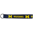 Michigan Wolverines Wrist Lanyard Key Chain - This Michigan Wolverines Wrist Lanyard Key Chain is made of durable and comfortable woven material and is a not only a great key chain but an easy way to keep track of your keys. The Michigan Wolverines Wrist Lanyard Key Chain has bright Michigan Wolverines graphics that makes this key chain easy to find in gym bags, purses and in the dreaded couch cushions.