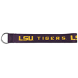 LSU Tigers Lanyard Key Chain - Our wrist strap LSU Tigers lanyard key chain is made of durable and comfortable woven material and is a not only a great key chain but an easy way to keep track of your keys. The bright LSU Tigers graffics makes this key chain easy to find in gym bags, purses and in the dreaded couch cushions.