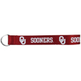 Oklahoma Sooners  Lanyard Key Chain - Our wrist strap lanyard key chain is made of durable and comfortable woven material and is a not only a great key chain but an easy way to keep track of your keys. The bright Oklahoma Sooners graffics makes this key chain easy to find in gym bags, purses and in the dreaded couch cushions.