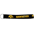 Iowa Hawkeyes Lanyard Key Chain - This Iowa Hawkeyes wrist strap lanyard key chain is made of durable and comfortable woven material and is a not only a great key chain but an easy way to keep track of your keys. The bright Iowa Hawkeyes graffics makes this key chain easy to find in gym bags, purses and in the dreaded couch cushions.