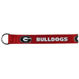 Georgia Bulldogs Lanyard Key Chain - This Georgia Bulldogs wrist strap lanyard key chain is made of durable and comfortable woven material and is a not only a great key chain but an easy way to keep track of your keys. The bright Georgia Bulldogs graffics makes this key chain easy to find in gym bags, purses and in the dreaded couch cushions.