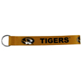 Missouri Tigers  Lanyard Key Chain - Our wrist strap lanyard key chain is made of durable and comfortable woven material and is a not only a great key chain but an easy way to keep track of your keys. The bright Missouri Tigers graffics makes this key chain easy to find in gym bags, purses and in the dreaded couch cushions.