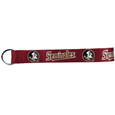 Florida St. Seminoles  Lanyard Key Chain - Our Florida State Seminoles wrist strap lanyard key chain is made of durable and comfortable woven material and is a not only a great lanyard key chain but an easy way to keep track ofin gy your keys. The bright Florida St. Seminoles graffics makes this key chain easy to find m bags, purses and in the dreaded couch cushions.