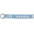 N. Carolina Tar Heels  Lanyard Key Chain - Our wrist strap lanyard key chain is made of durable and comfortable woven material and is a not only a great key chain but an easy way to keep track of your keys. The bright N. Carolina Tar Heels graffics makes this key chain easy to find in gym bags, purses and in the dreaded couch cushions.