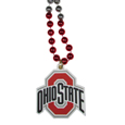 Ohio St. Buckeyes Mardi Gras Bead Necklaces - Have a little fun on game day with our 36 inch Mardi Gras bead necklaces with extra large team logos.