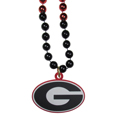 Georgia Bulldogs Mardi Gras Bead Necklaces - Have a little fun on game day with our 36 inch Mardi Gras bead necklaces with extra large team logos.