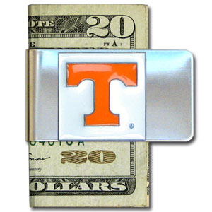 College Large Money Clip - Tennessee Volunteers - Put your team spirit where your money is with this large metal college money clip. Hand painted 3D emblem in school colors. Check out our extensive line of  licensed sports merchandise! Thank you for shopping with CrazedOutSports.com