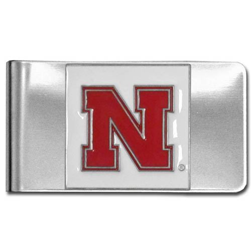 College Large Money Clip - Nebraska Cornhuskers - Put your team spirit where your money is with this large metal college money clip. Hand painted 3D emblem in school colors. Check out our extensive line of  licensed sports merchandise! Thank you for shopping with CrazedOutSports.com