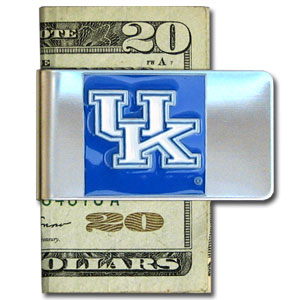 College Large Money Clip - Kentucky Wildcats - Put your team spirit where your money is with this large metal college money clip. Hand painted 3D emblem in school colors. Check out our extensive line of  licensed sports merchandise! Thank you for shopping with CrazedOutSports.com
