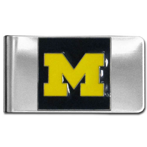 Michigan Wolverines Money Clip - Put your team spirit where your money is with this large metal collegeMichigan Wolverines Money Clip. Michigan Wolverines Money Clip is hand painted 3D emblem in school colors. Check out our extensive line of  licensed sports merchandise! Thank you for shopping with CrazedOutSports.com